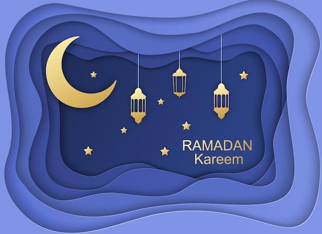 Cartão ramadan kareem,