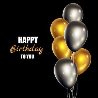Cartão realista feliz aniversário