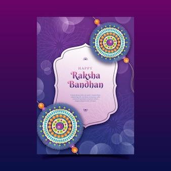 Cartão realista raksha bandhan