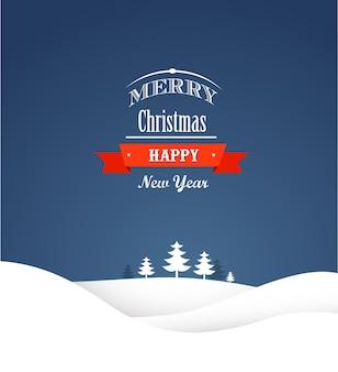 Cartão retro de natal e plano de fundo
