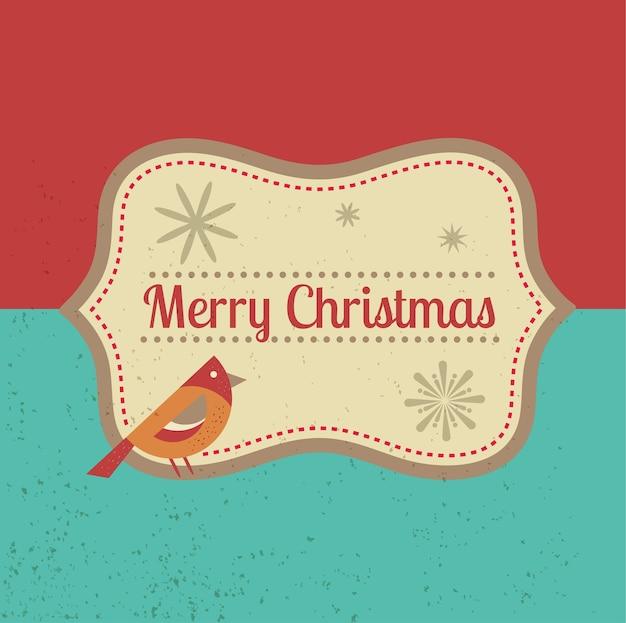 Cartão retro de natal pronto para imprimir