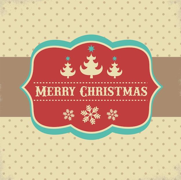 Cartão retro de natal