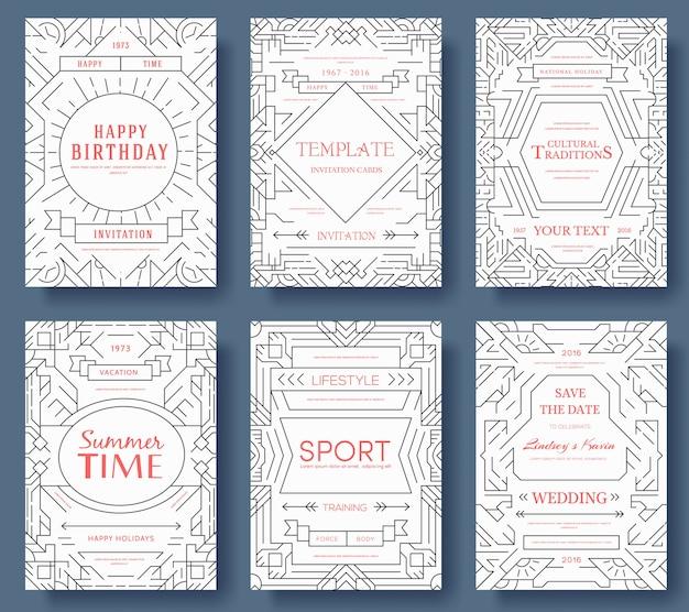 Cartão retro decorativo moderno ou design de convite