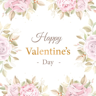 Cartão rosa suave para o dia dos namorados