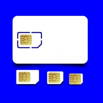 Cartão sim do telefone móvel