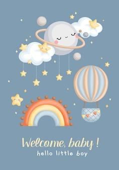 Cartão simples para bebé