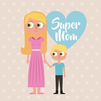 Cartão super mamãe