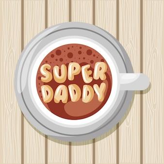 Cartão super papai