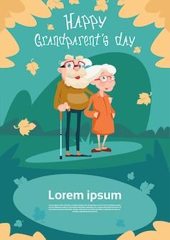 Cartão superior do dia das avós dos pares