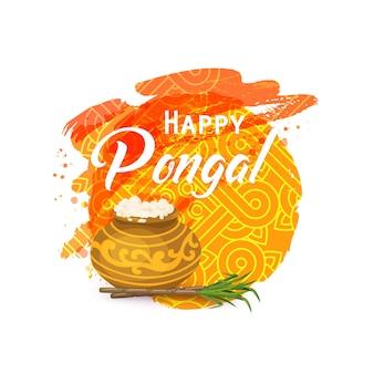 Cartão tailandês feliz de pongal