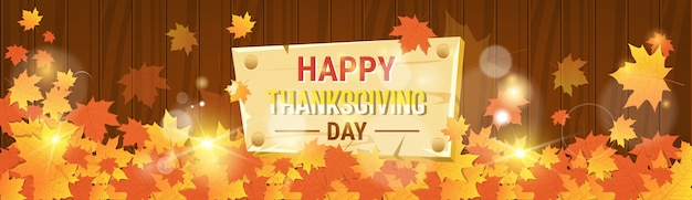 Cartão tradicional do outono feliz do dia da acção