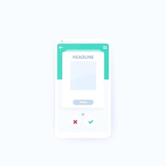 Cartão ui para aplicativo móvel