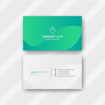 Cartão verde abstrato