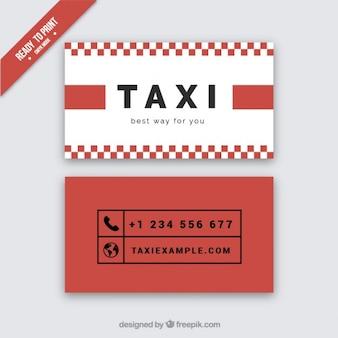 Cartão vermelho de motorista de táxi