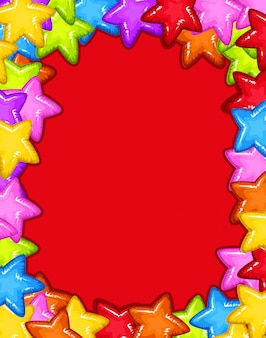 Cartão vermelho do partido da estrela
