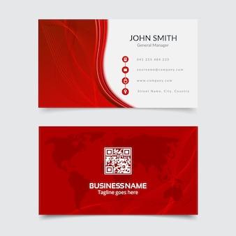 Cartão vermelho e branco
