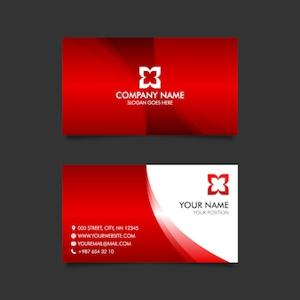 Cartão vermelho moderno
