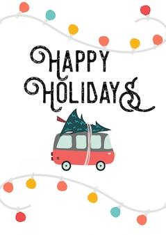 Cartão vertical de feliz natal e boas festas
