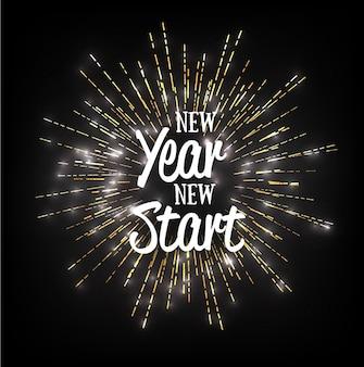 Cartão vetorial de ano novo