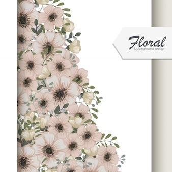 Cartão vintage com flores e bagas