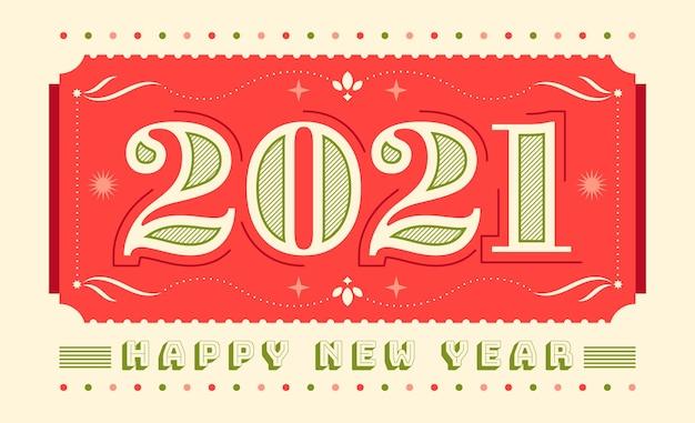 Cartão vintage de ano novo.