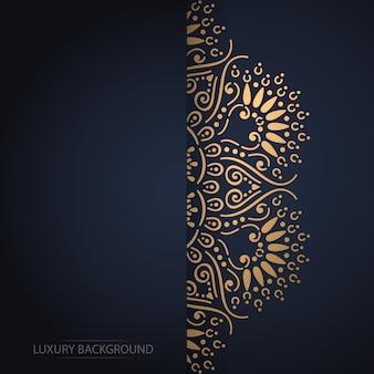 Cartão vintage de ouro sobre um fundo preto