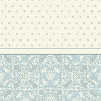 Cartão vintage de vetor com design floral ornamento