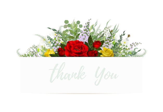 Cartão vintage, design de convite de casamento com flores e folhas. flores silvestres,