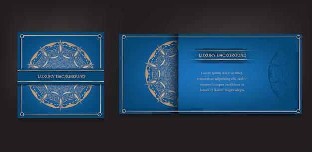 Cartão vintage e fundo de mandala ornamentais de luxo