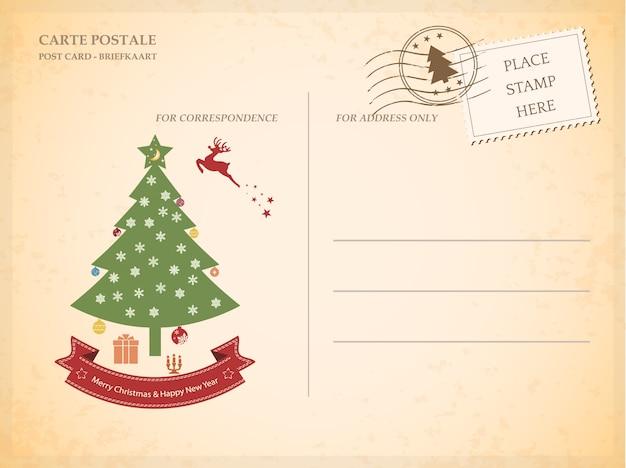 Cartão vintage para o natal