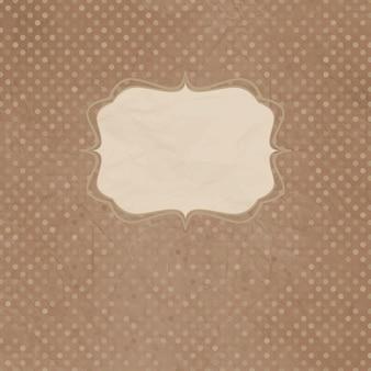 Cartão vintage polka dot com laço.