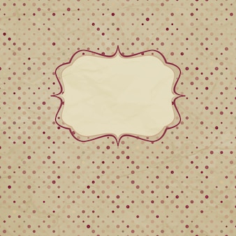 Cartão vintage polka dot.