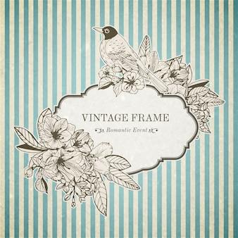 Cartão vintage romântico