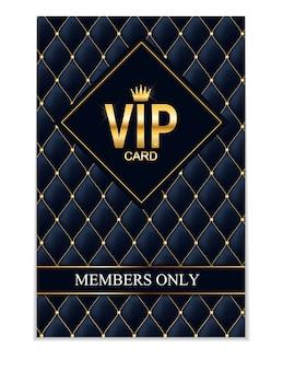 Cartão vip de membros de luxo