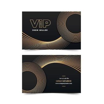 Cartão vip gradiente com detalhes dourados