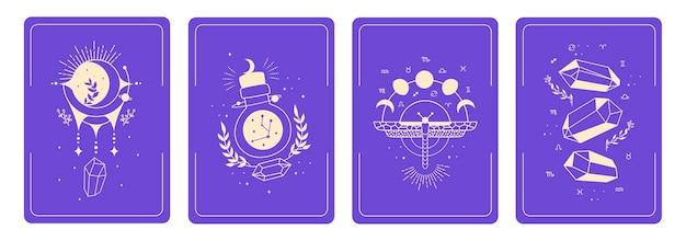 Cartas com símbolos esotéricos