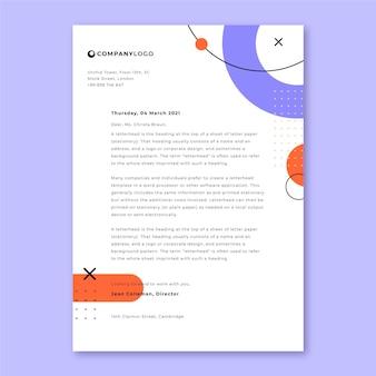 Cartas de apresentação gerais minimalistas de memphis