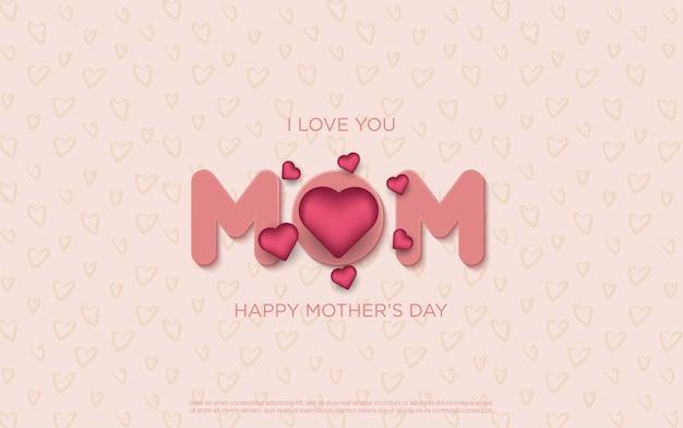 Cartas de feliz dia das mães com flores realistas