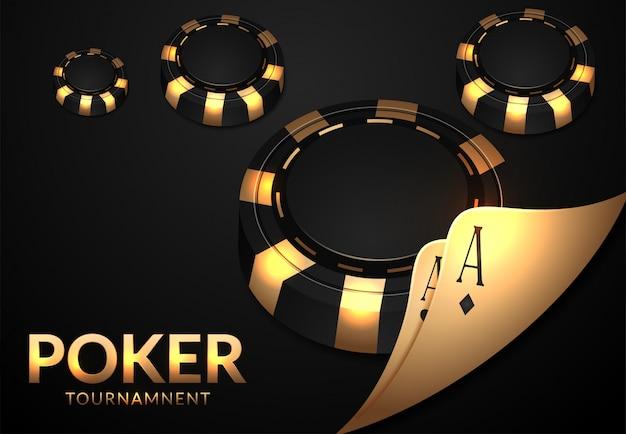 Cartas de jogar e cassino de fichas de pôquer