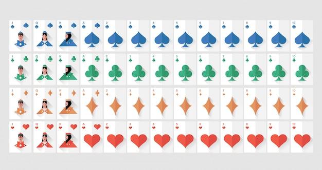 Cartas de jogar para jogos on-line premium