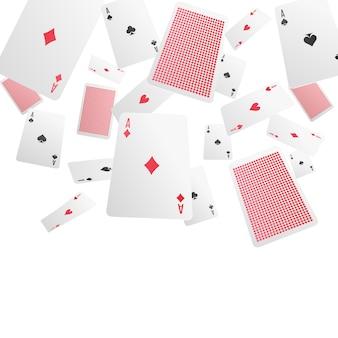 Cartas de jogar realista