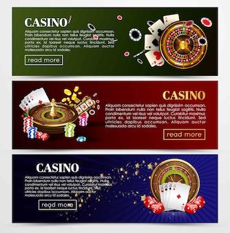 Cartas de roleta de poker de casino, dados