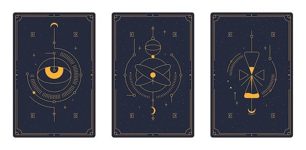 Cartas de tarô. oculto mágico.