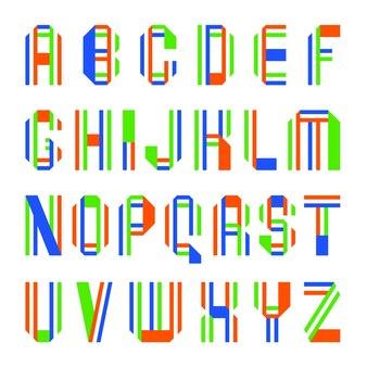 Cartas dobradas de fitas coloridas de papel