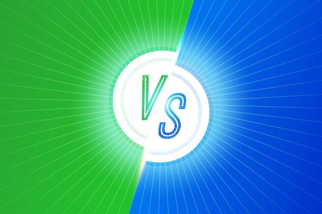 Cartas vs versus vetor conceito competitivo