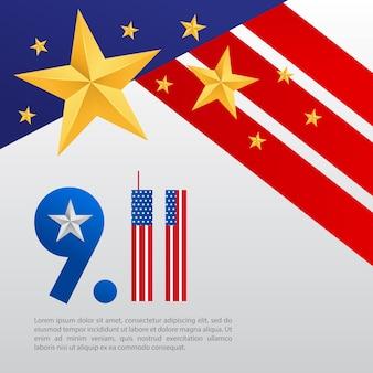 Cartaz 911 com uma estrela e o posto de general nos estados unidos