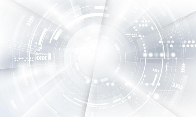 Cartaz abstrato branco com dinâmica. rede de tecnologia