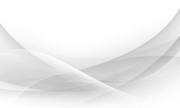 Cartaz abstrato cinza com ondas dinâmicas. rede de tecnologia ilustração vetorial.