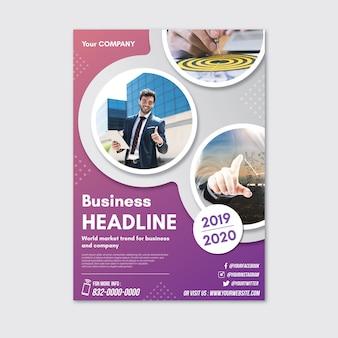 Cartaz abstrato com fotos para negócios