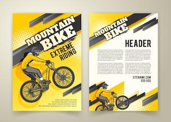 Cartaz abstrato das competições de motocross